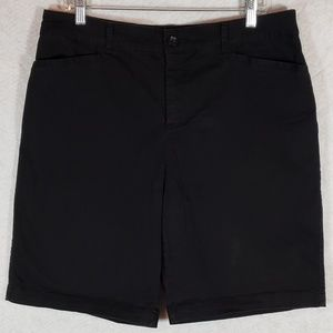 Croft and Barrow Classic Fit Stretch Black Shorts